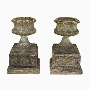 Concrete Urns, 1960s, Set of 2