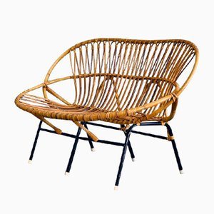 Wicker Sofa from Rohé Noordwolde, 1950s