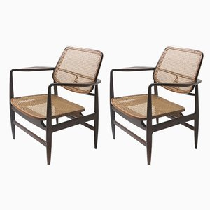 Modern Oscar Armchairs by Sergio Rodrigues, 1950s, Set of 2