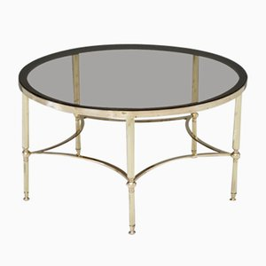 Circular Brass Coffee Table, 1960s