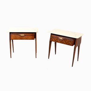 Italian Rosewood Nightstands, 1960s, Set of 2