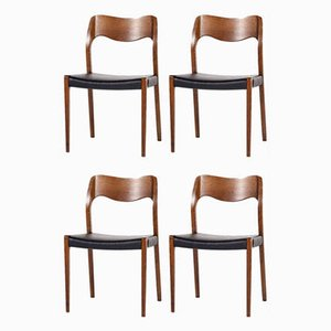 No. 71 Dining Chairs by Niels Otto Møller for J.L. Møllers, 1960s, Set of 4