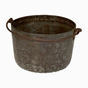 Antique Brass Cauldron