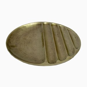 Brass Hammered and Brushed Bowl from Cibici, 1970s