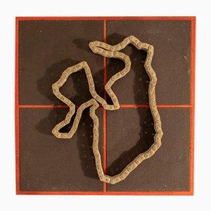 Escultura de cadena Magnetized Game de Paolo Tilche, años 70