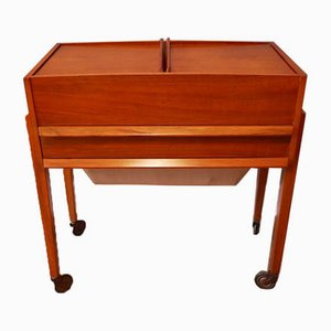 Danish Teak Sewing Trolley, 1960s