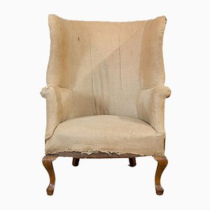 Antique English Wing Armchair