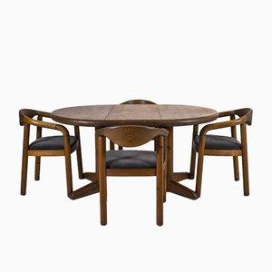 Dänischer Esstisch & Stühle Set von Rainer Daumiller, 1970er, 5er Set