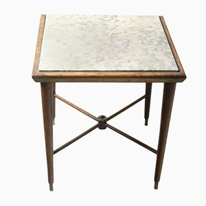 Mid-Century Modern Side Table with Marble Top by Giuseppe Scapinelli