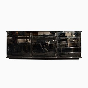 Italian Black Lacquered Wood Sideboard from Molteni, 1970s