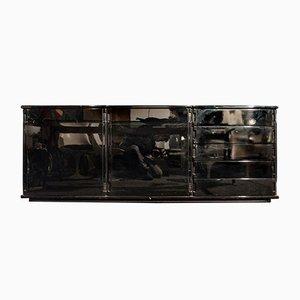 Italienisches Sideboard aus schwarz lackiertem Holz von Molteni, 1970er