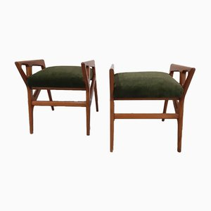Ottomans Attributed to Gio Ponti, 1950s, Set of 2