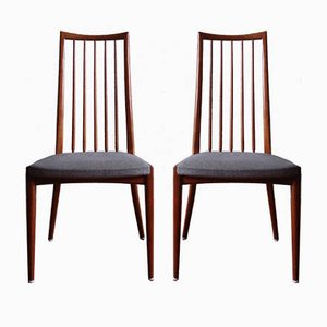 Mid-Century Dining Chairs by Ernst Martin Dettinger, Set of 2