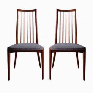 Mid-Century Esszimmerstühle von Ernst Martin Dettinger, 2er Set