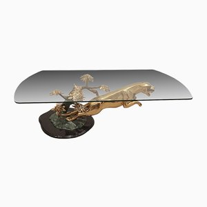 Brass Jaguar Coffee Table from Maison Jansen