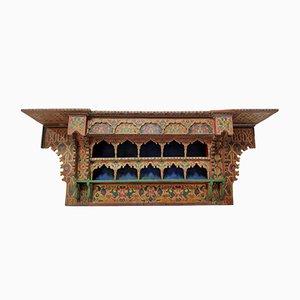 Vintage Moroccan Polychromed Shelf