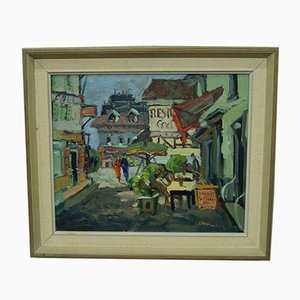 Tage Rudolf Ahlm, Paris, Modern Swedish Oil Painting, 1960s