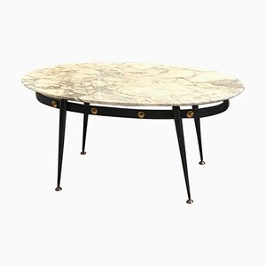 Mid-Century Modern Italian Brass and Marble Coffee Table, 1950s