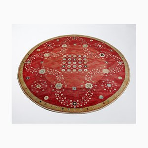 Red Flowerbed Rug by Barbro Nilsson for MMF, Sweden, 1944