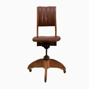 Antique American Swivel Desk Chair, 1930s
