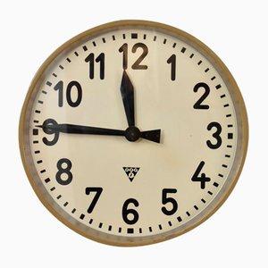Large Vintage Czech Pragotron Clock