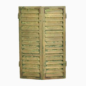 Vintage Hungarian Green Shutters