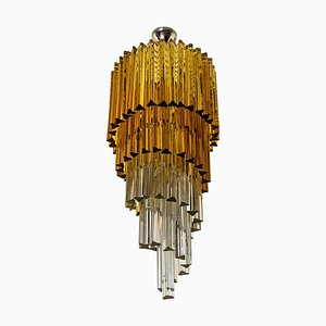 Spiral Murano Glass Chandelier by Venini, 1970s
