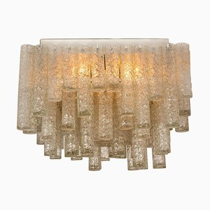 Large Modern Brown Square Light Fixture from Doria Leuchten Germany, 1960s