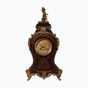 19th Century French Baroque Bronze Table Clock