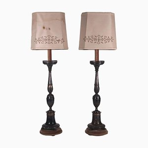 Torch Holder Lamps, Set of 2