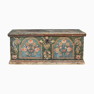 Early 19th Century Hand-Painted Swedish Pine Art Box