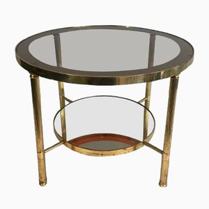 Small French Brass Coffee Table, 1970