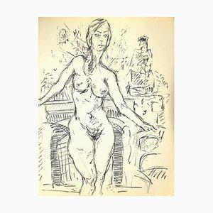 Frauenfigur Ursprüngliche Zeichnung in Stift und Bleistift