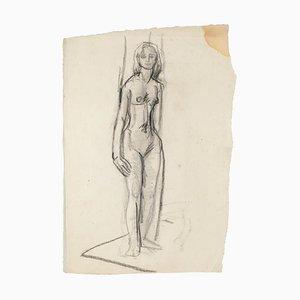 Nackte Frau Original Bleistift auf Papier