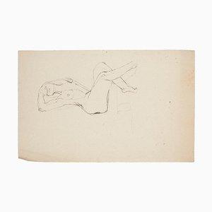 Nude Woman Original Pencil on Paper