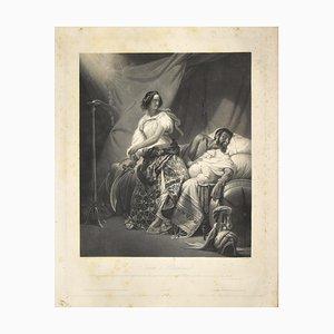 Judith und Holopernes Radierung von JPM Jazet nach H. Vernet, 19. Jahrhundert