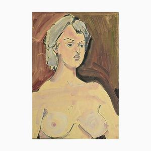 Portrait einer Frau in Tempera und Aquarell von Tibor Gertler