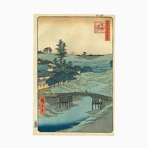 Vue de la Rivière Furukawa Hiroo par Utagawa Hiroshige, 1856