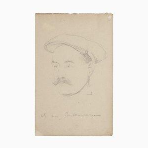 Bernard Millerent Portrait Original Drawing in Pencil