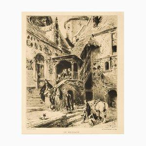 The Message Radierung von Henri-Charles Toussaint nach Toussaint E. Isabey, 1880