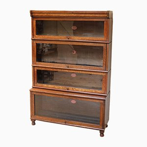 Oak Stacking Bookcase by Peter Graham, 1920s