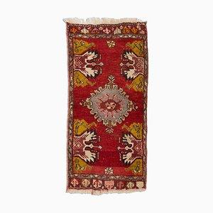 Antique Turkish Red Geometric Rug, 1930s