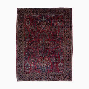 Antique Wine Red Floral Re-import Sarough, 1920s
