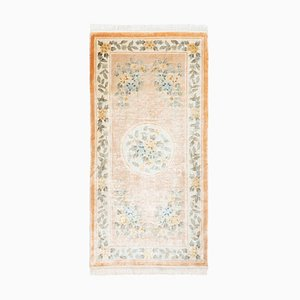 Antique Chinese Silk Rug, 1980s