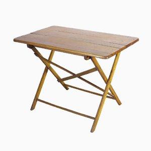Industrieller Zusammenklappbarer Tisch aus Holz, 1930er