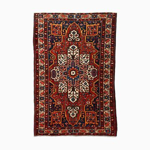 Floral Light Red Bakhtiari Rug with Border & Medallion, 1930s