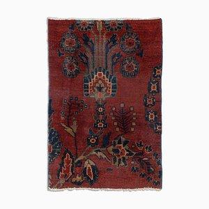 Floraler Antiker Sarough Teppich in Rostrot