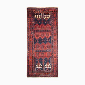 Geometric Koliali Rug in Rusty Red with Border, 1950s