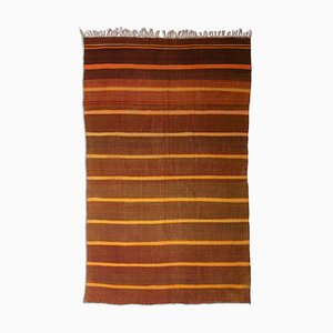 Light Brown Kilim Rug with Stripes, 1950s