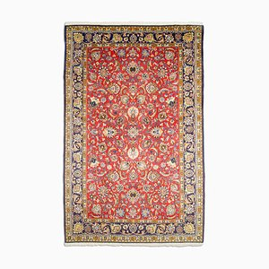 Middle East Floral Light Red Rug with Border, 1950s